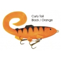 Lifelike Baitfish Curly Tail - Black / Orange