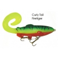 Lifelike Baitfish Curly Tail - Fire Tiger