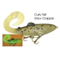 Lifelike Baitfish Curly Tail - Glow Crappie