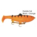 Lifelike Baitfish Paddle Tail - Black / Orange