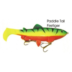 Lifelike Baitfish Paddle Tail - Fire Tiger