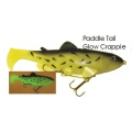 Lifelike Baitfish Paddle Tail - Glow Crappie